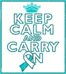Cervical Cancer Keep Calm Carry On Shirts