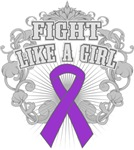 Fibromyalgia Fight Like A Girl Shirts