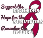 Multiple Myeloma Support Hope Remember Shirts