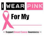 I Wear Pink Breast Cancer Awareness T-Shirts