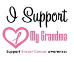 I Support (Grandma) Breast Cancer T-Shirts