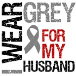I Wear Grey (Husband) Brain Cancer T-Shirts