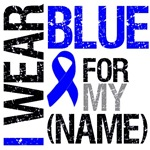 I Wear Blue Ribbon Colon Cancer Grunge Shirts
