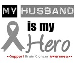 Brain Cancer Hero (Husband) T-Shirts & Gifts