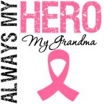 Breast Cancer Always My Hero My Grandma Shirts