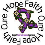 Pancreatic Cancer Flower Ribbon Shirts & Gifts