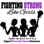 Fighting Strong Girls Pancreatic Cancer Shirts