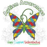 Autism Awareness Hope Butterfly Shirts & Gifts