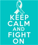 Cervical Cancer Keep Calm Fight On Shirts