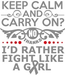 Brain Tumor Keep Calm & Fight Like A Girl Tees