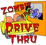 Zombies love fast food, this funny shirt features a zombie getting 