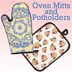 Just oven mitts and potholders