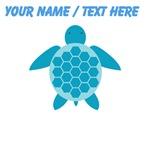 Custom Blue Sea Turtle