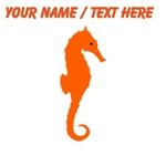 Custom Orange Seahorse