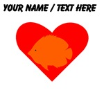 Custom Orange Tropical Fish Heart