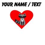 Cartoon Raccoon Heart