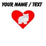 Cartoon Hippo Heart