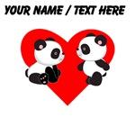 Custom Baby Pandas Heart