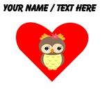 Custom Owl Heart