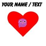Custom Purple Owl Heart