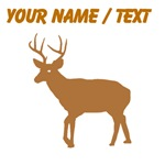 Custom Brown Buck Silhouette