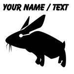 Custom Black Hare Silhouette