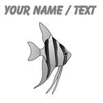 Custom Grey Angel Fish