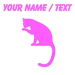 Custom Pink Cat Cleaning