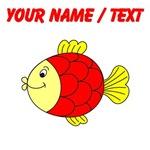 Custom Red Tropical Fish