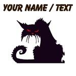Custom Angry Black Cat