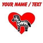 Custom Zebra Heart