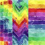 Geometric Watercolor Rainbow Designs