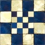 Cracked Tiles - Blue