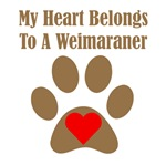 My Heart Belongs To A Weimaraner