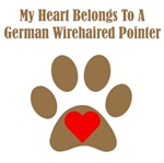 My Heart Belongs To A German Wirehaired Pointer