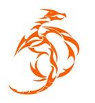 Orange Abstract Dragon