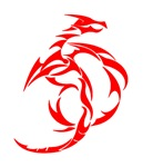 Red Abstract Dragon
