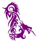 Purple Red Eyed Dragon