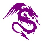 Purple Dragon Serpent With Wings