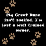 Well Trained Great Dane Owner