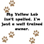 Well Trained Yellow Lab Owner