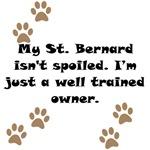 Well Trained St. Bernard Owner