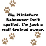 Well Trained Miniature Schnauzer Owner