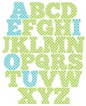 Green and Blue Alphabet