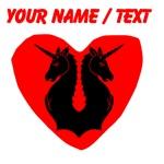 Custom Double Unicorn Heart