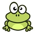 Funny Cartoon Frog