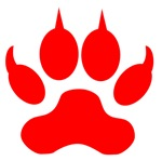 Red Wolf Paw Print