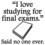 Said No One Ever: Studying For Final Exams