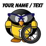 Custom Cyclist Penguin
