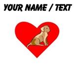 Custom Labrador Retriever Heart